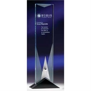 Phoenix (tm) - Large - Stainless Steel, Jet Black Crystal, Jade Crystal And Etched Textures Award
