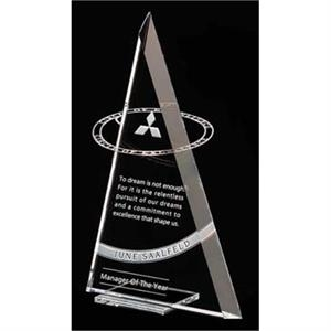 Circle Of Excellence - Large - Award Made Of Starphire Crystal And Encircled By Polished Stainless