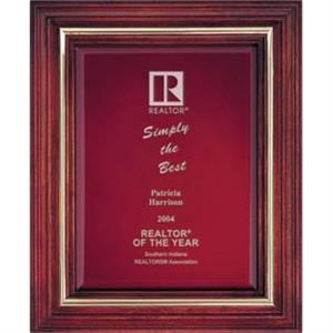 Large - Cherry Award Plaque With Ebony Or Maroon Velour Background