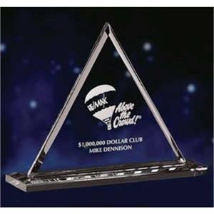 Large - Award Made Of Optic Crystal, An Excellent Choice For Elevating Your Presentation