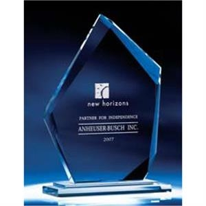 Summit - Small - Optic Crystal Award With Base. Add An Olympic Theme To Your Next Presentation