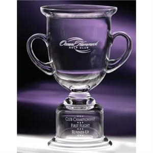 Cup Adirondack - Medium - This Hand-blown Classic Award Features A Unique Pedestal For Engraving