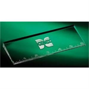 "Oblique (tm) - 6"" Optic Crystal Ruler"