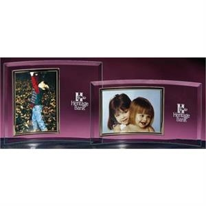"Horizontal - 3.5"" X 5"" Free-standing Picture Frame With Gold Frame And Choice Of Format"