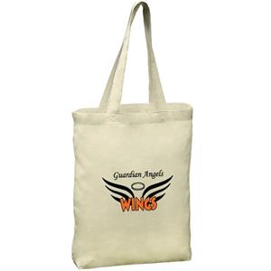 6 Oz. Cotton Tote Bag With Self Fabric Handles