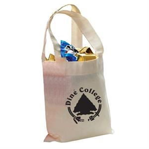 6 Oz. Mini Cotton Tote Bag With Self-fabric Handles