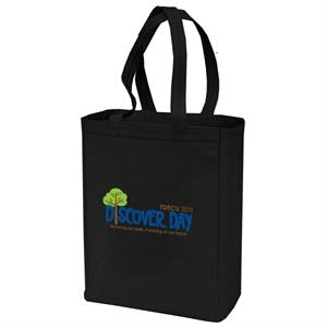"12 Oz. Cotton Canvas Shopping Tote Bag With 25"" Handles And Gusset"