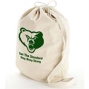 12 Oz. Cotton Drawstring Opening With Web Shoulder Strap