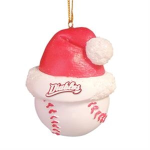Baseball - Sport Shape Resin Ornament With Santa Hat