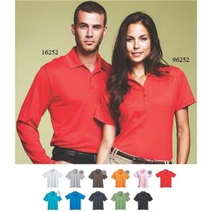 Moreno - Blank - Women's Flat Knit Collar Polo Shirt