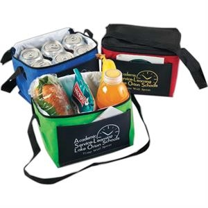 Kool It - Non-woven Insulated Lunch Bag With Black Top, Back, And Bottom