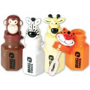 Mini Animal Bottle Of Bubbles, .6 Oz. Capacity. Impri
