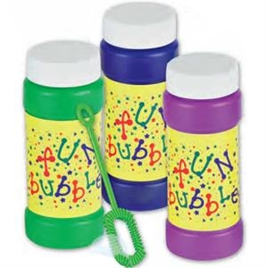 Fun Bubbles - 4 Oz - Bottle Of Bubbles With Stock Design. Imprinted