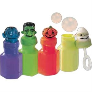 "Halloween - Mini Bubbles In 2 3/4"" High (.06 Ounces) Holiday Design Bottle. Imprinted"