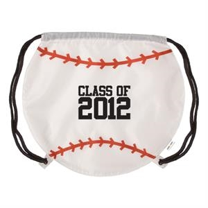Gametime! (tm) - Classic Drawstring Cinch Bag With A Sport Twist, Baseball