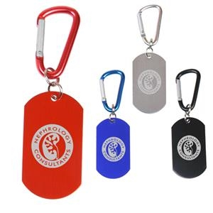 Aluminum Dog Tag On Carabiner