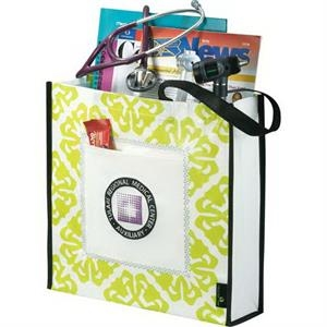 Laminated Non-woven Retro Shopper Tote