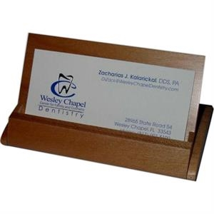 Rosewood Or Mample Business Card Holder/display. Closeout Sale