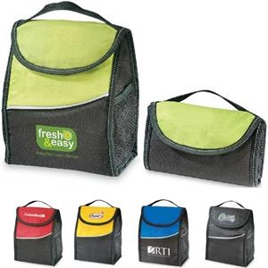 Insulated Foldable Lunch Cooler Bag Made Of 600 Denier Polyester/420 Denier Ripstop