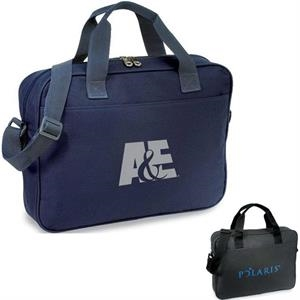 Delegate - Briefcase With Zippered Compartment, I.d. Window And Shoulder Strap