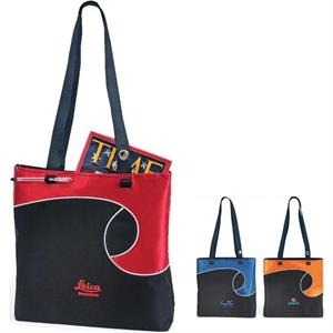 Swirly - Polyester Tote Bag With Stylish And Unique Design
