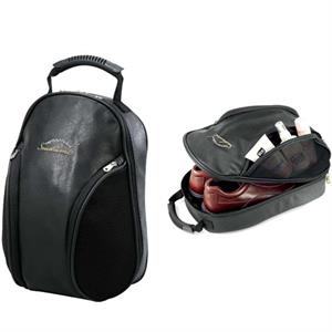 Concord Koskin Collection - Elegant Locker/golf Shoe Bag With Velour-lined Zippered Shoe Compartment