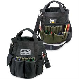 Contractor - Rugged Utility, Bucket Style Tool Bag With Multiple Inside And Outside Pockets