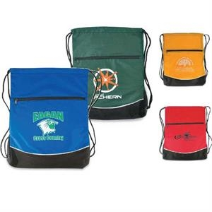 Quickdraw - Drawstring Backpack With Two-tone Design And Drawstring. Closeout