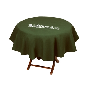 "Round 60"" Table Cover Made Of 7 Oz. Poly/cotton Twill"
