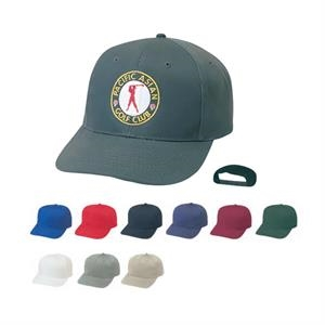Low Crown Constructed 100% Cotton Twill Cap With Plastic Adjustable Snap