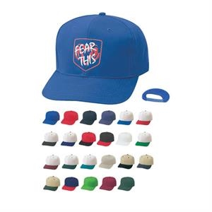 Pro Style Constructed Cotton Twill Cap With Plastic Adjustable Snap