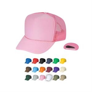 Summer Mesh Cap With Plastic Adjustable Snap