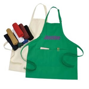 "10 Oz. Poly-cotton Bib Style Adjustable Apron, 24"" X 28"""