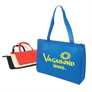 Eco-friendly Collection - Non-woven Tote Bag With Zipper, 80gm Polypropylene
