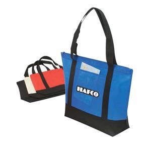 "Eco-friendly Collection - Non-woven Tote Bag With Zipper, 22"" X 16"" X 6"""