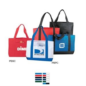 "600 Denier Polyester Tote Bag With Heavy Vinyl Backing, 19"" X 12"" X 4 1/2"""