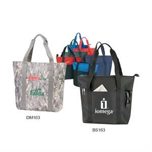 Digital Camo Tote Bag With Zipper And Inside Pocket