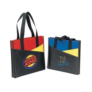 600 Denier Polyester Tri-color Tote Bag With Heavy Vinyl Backing