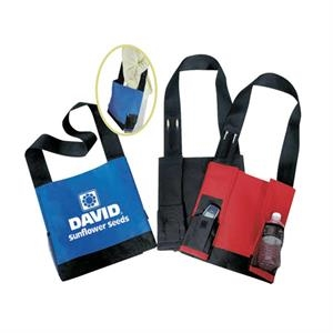 Shoulder Strap 600 Denier Polyester Tote Bag With Heavy Vinyl Backing