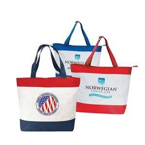 600 Denier Polyester Tote Bag With Zipper And Heavy Vinyl Backing