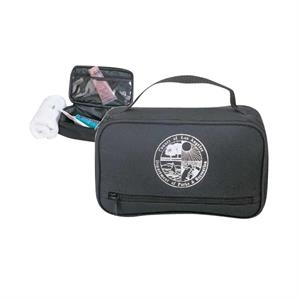600 Denier Polyester Travel Kit With Zippered Front Pocket And Carry Handle