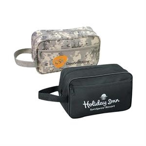 Digital Camo 600 Denier Polyester Travel Kit With Heavy Vinyl Backing
