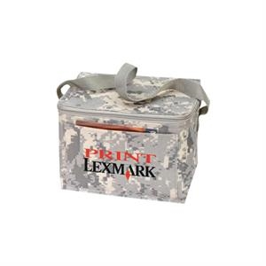 "Digital Camo 6 Pack Cooler With Heavy Vinyl Backing, 8 1/2"" X 6 1/2"" X 6 1/2"""