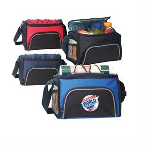 Deluxe Polyester 6-pack Cooler With Heavy Vi