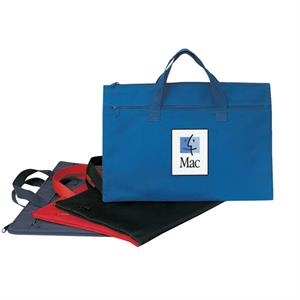 "Polyester Document Bag With Heavy Vinyl Backing, 15 1/2"" X 10"""