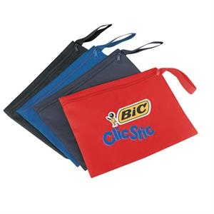 600 Denier Polyester Promotional Document Bag With Heavy Vinyl Backing