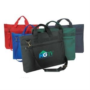 "Polyester Document Bag With Heavy Vinyl Backing, 18"" X 13"" X 2"""