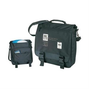 Polyester Computer Briefcase/backpack With Heavy Vinyl Backing