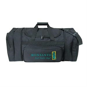Black Polyester Expandable Travel Bag With Heavy Vinyl Backing