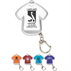 Tee Light - T-shirt Shaped Key Chain With Led Light